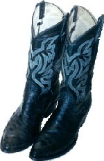 a pair of cowboy boots repaired by Rilling