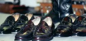 only the best leather and rubber products are used to repair shoes
